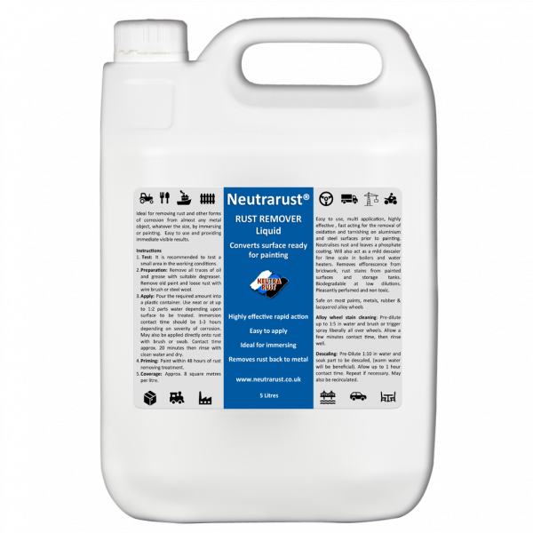Neutrarust Highly effective Rust Remover Liquid 5 Litres